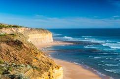 12 утесов апостолов на дорога океане, большая океане на солнцах Стоковые Фото