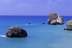 Утесы Афродиты, Paphos, Кипра Стоковые Фотографии RF