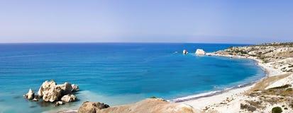 Утесы Афродиты в Кипре Стоковые Изображения