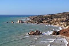 Утесы Афродиты, Paphos, Кипра Стоковые Фото