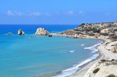 Утесы Афродиты, Paphos, Кипра Стоковые Изображения