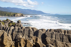 Утесы блинчика Punakaiki в Новой Зеландии Стоковые Фотографии RF