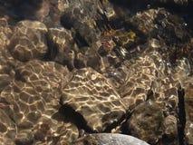 Утесы в воде Стоковые Фотографии RF