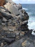 Утесы в итальянском море Стоковое фото RF