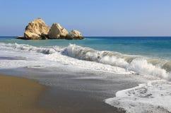 Утесы в море и seashore Стоковые Изображения RF