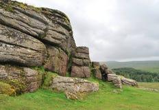 Утесы в национальном парке Dartmoor Стоковые Изображения RF