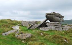 Утесы в национальном парке Dartmoor Стоковое Изображение RF