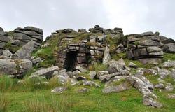 Утесы в национальном парке Dartmoor Стоковые Фото