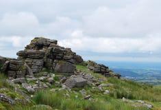 Утесы в национальном парке Dartmoor Стоковое фото RF