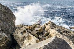 Утесы в океане Стоковая Фотография RF