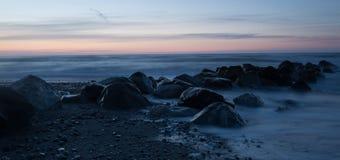 Утесы в пляже Стоковая Фотография RF