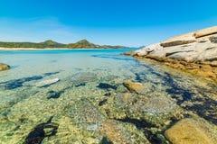Утесы в пляже Scoglio di Peppino Стоковое Изображение RF