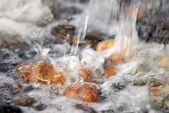 Утесы в речных порогах реки Стоковые Изображения