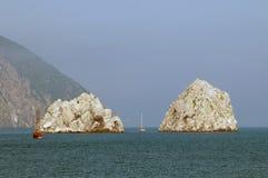 Утесы в Чёрном море Стоковая Фотография