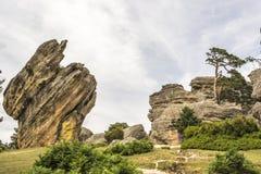 Утесы в Castroviejo, Duruelo de Ла Сьерре, Сории, Кастили-Леоне, Испании Стоковое Фото