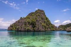 Утесы в Coron Palawan Филиппинах Стоковые Фотографии RF