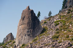 утесы горных склонов гранита Стоковые Фотографии RF