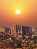 утесы горы стоковое изображение rf
