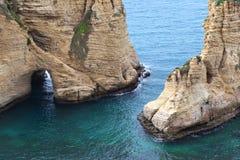 Утесы голубя, Ливан Стоковая Фотография RF