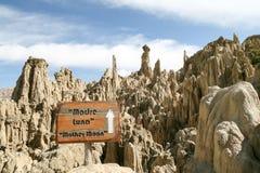 Утесы долины луны, Боливии стоковые изображения rf