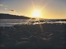 Утесы захода солнца Стоковые Фотографии RF