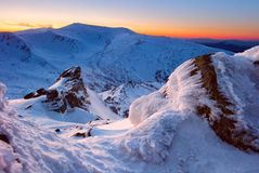 Утесы зимы Стоковая Фотография