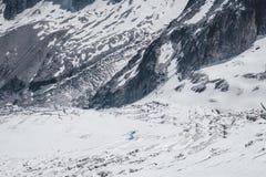 Утесы и холмы гор в сезоне лета Стоковая Фотография RF