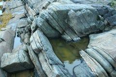 утесы, камень, живая природа севера, Стоковое Изображение RF