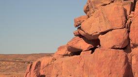 Утесы каньона цвета Синай Египет акции видеоматериалы