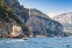 Утесы Капри, итальянский остров Стоковое Изображение RF