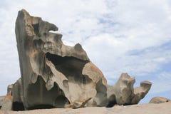 утесы кенгуруа острова замечательные Стоковое Изображение RF
