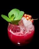 утесы красного цвета мяты коктеила вкусные Стоковое фото RF
