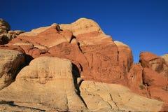 утесы красного цвета скал Стоковое Фото
