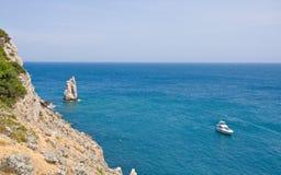 утесы морского пехотинца резца залива Стоковое фото RF