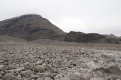 Утесы на леднике Vatnajökull Стоковое Изображение
