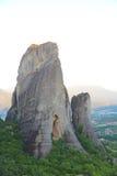 Утесы на которых монастыри Meteora стоковая фотография rf