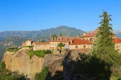 Утесы на которых монастыри Meteora стоковые изображения rf