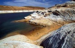 Утесы на озере Пауэлл Стоковая Фотография RF