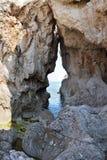Утесы на побережье кретски моря Стоковая Фотография RF