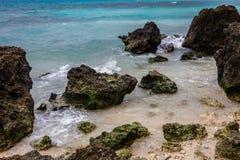Утесы на побережье, острове Boracay, Филиппинах Стоковое Изображение RF