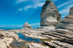 Утесы на полуострове Kaikoura, Новой Зеландии стоковое фото