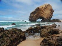 Утесы на пляже Стоковое Изображение