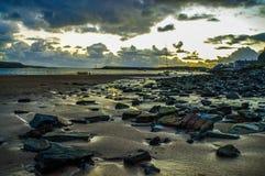 Утесы на пляже Стоковая Фотография RF