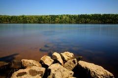 Утесы на реке St Croix Стоковая Фотография RF