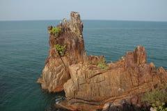 Утесы на Koh Chang Таиланде Стоковая Фотография RF