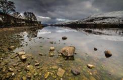 Утесы на Lochernhead в Шотландии Стоковые Фото