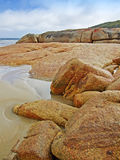 утесы нормандца пляжа залива Австралии Стоковые Фото