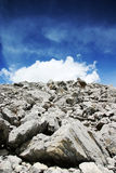 утесы облаков белые Стоковая Фотография