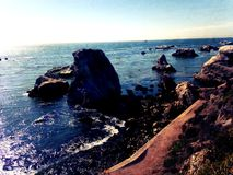 Утесы океана парка штата Zuma Стоковые Изображения