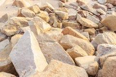 Утесы около пляжа Стоковое Фото